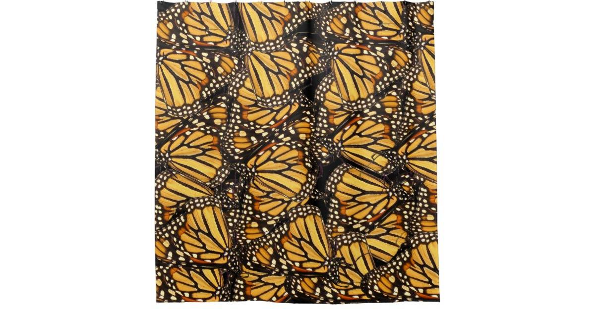 Abstract Butterfly Yellow Black Shower Curtain Zazzle