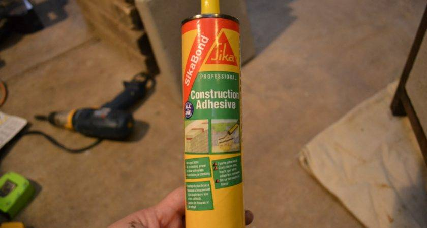 Adhesive Made Specifically Concrete Found Home Depot