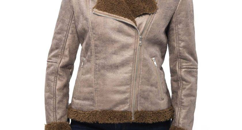 Alpine Swiss Womens Faux Shearling Jacket Fashion Biker