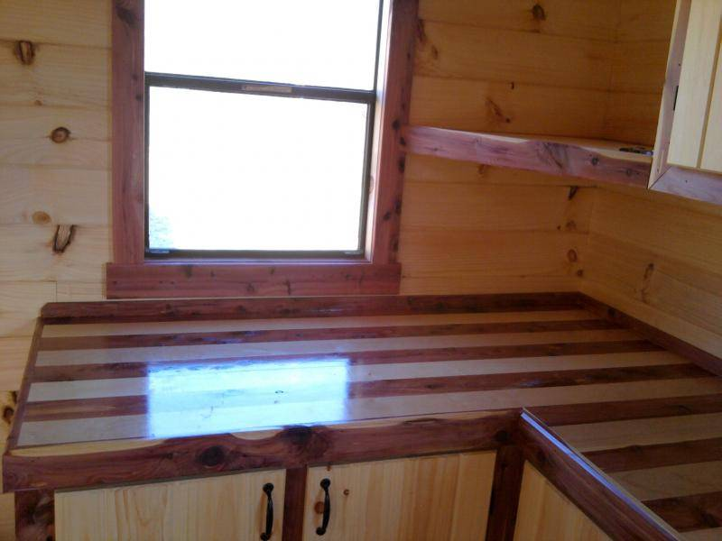 Aromatic Eastern Red Cedar Maple Laminated Butcher Block Counter