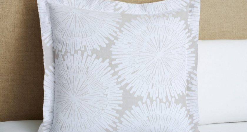 Belle Epoque Burst Euro Sham White Gray