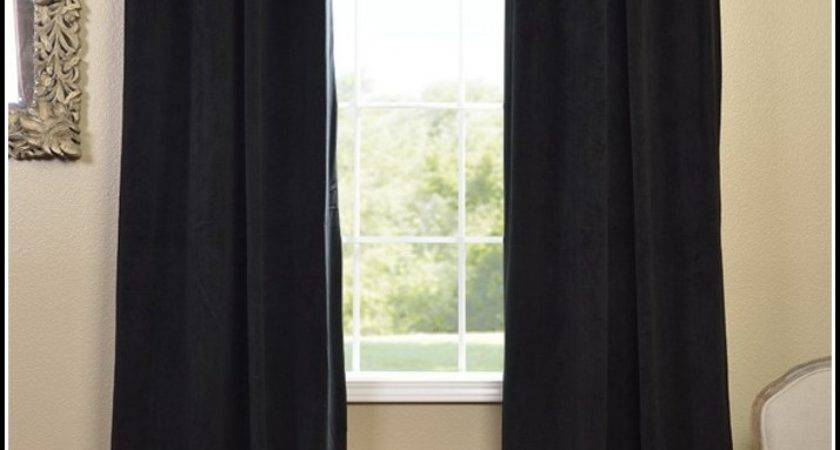 Black Curtains Inches Long Home Design