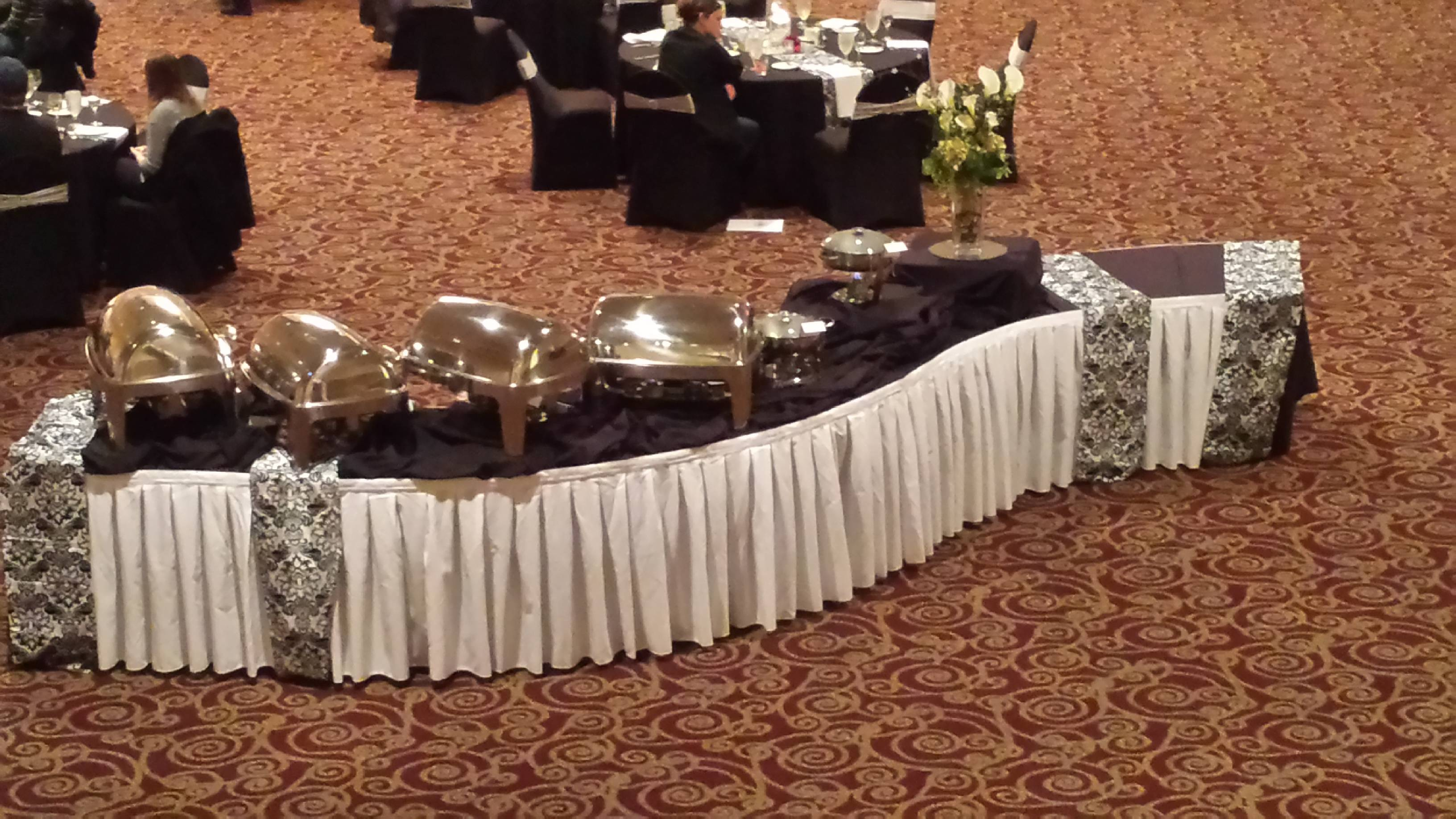 Black White Buffet Table Grand Volute Catering Event Center