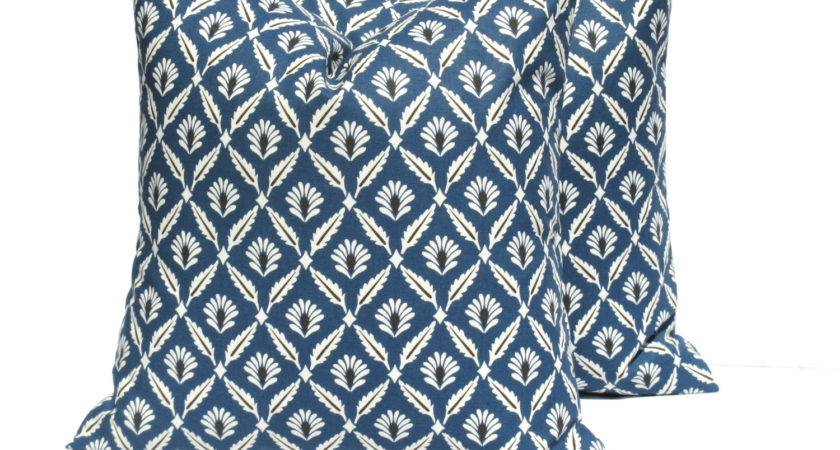 Blue Gray Pillow Euro Sham One Navy Eastandnest