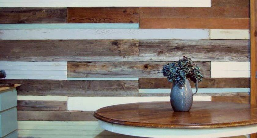 Blue Roof Cabin Diy Plank Wall