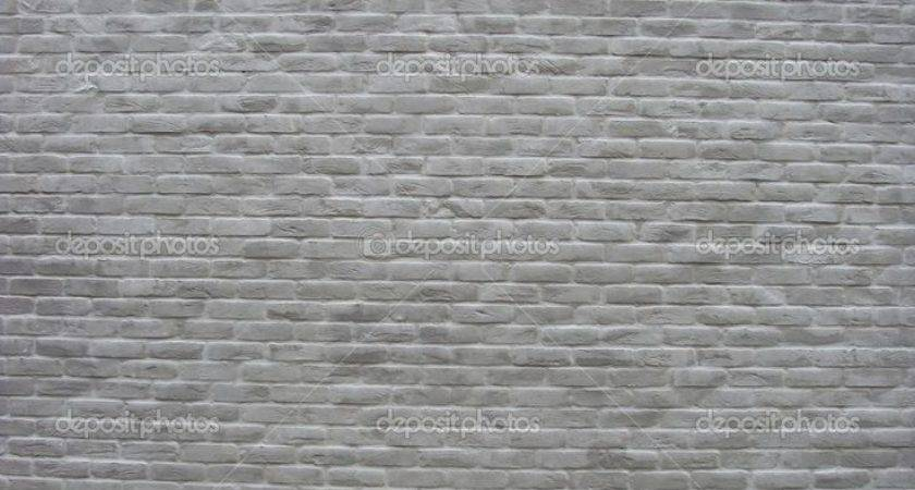Brick Wall Painted White Gray Ranch Ideas Pinterest