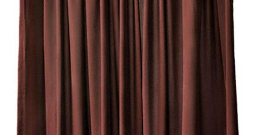 Brown Velvet Inch High Curtain Long Panel Drapes Extra