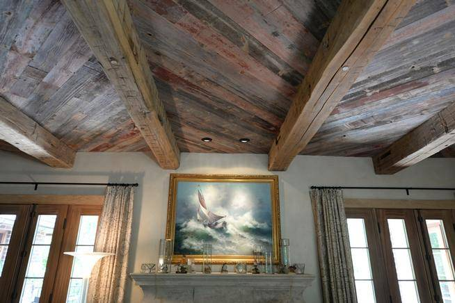 Ceiling Rustic Yet Sophisticated Provided Elmwood Reclaimed
