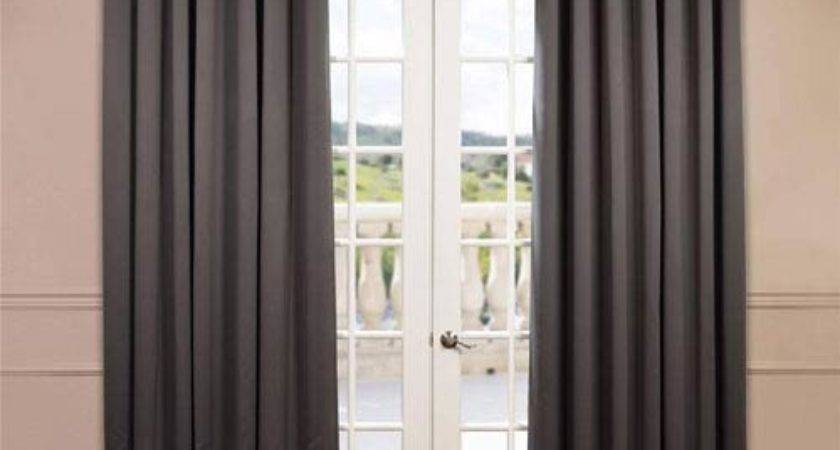 Charcoal Inch Double Wide Blackout Curtain
