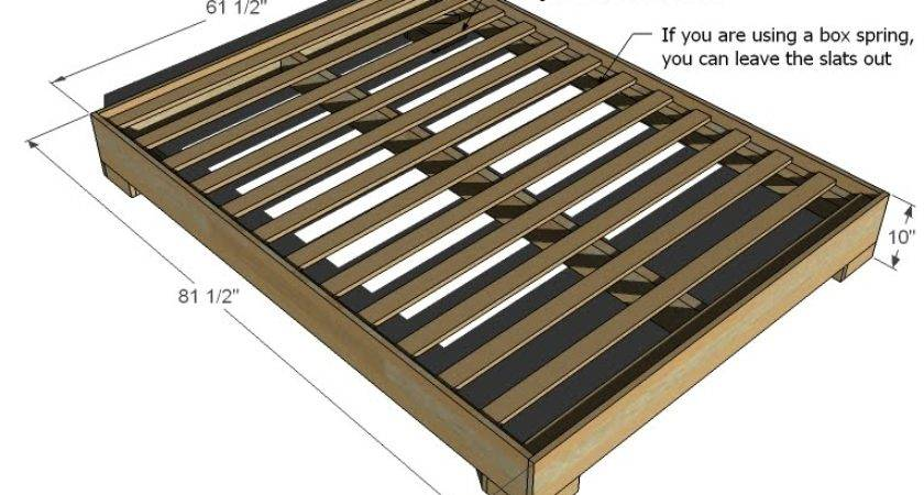Chunky Leg Bed Frame Easy Diy Project Furniture Plans