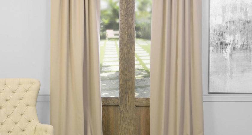 Classic Taupe Inch Blackout Curtain Half Price