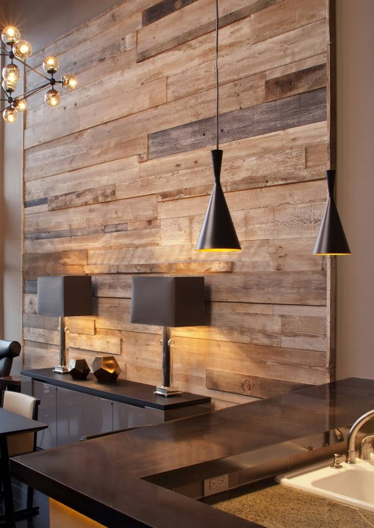 Colorered Stain Boarded Wooden Walls Reclaimed Wood
