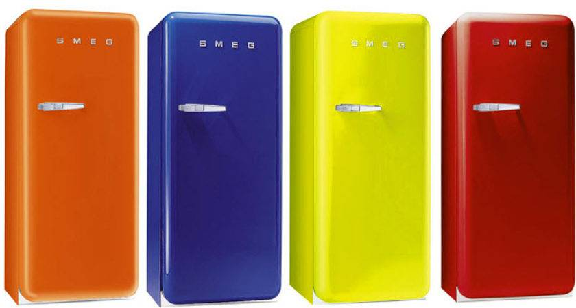 Colorful Retro Style Refrigerators Smeg