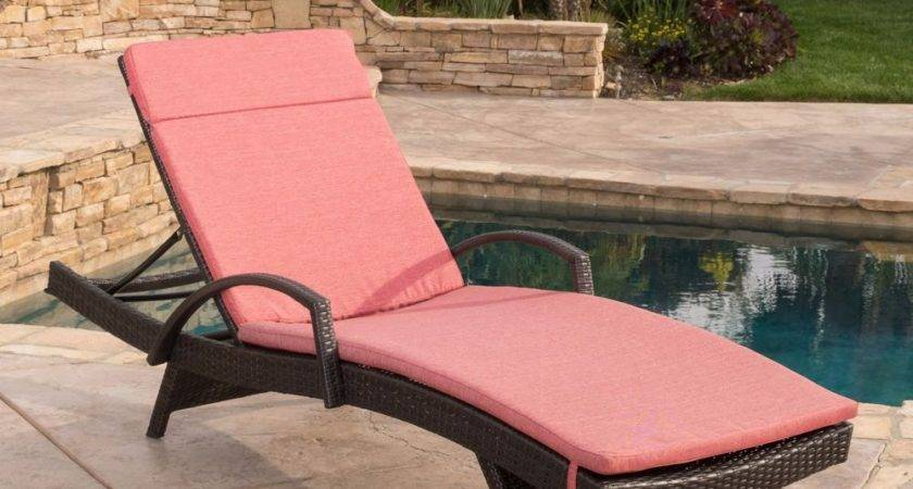 Contemporary Outdoor Brown Wicker Armed Chaise Lounge