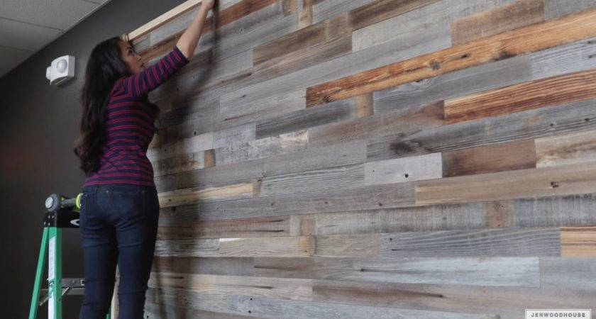 Create Reclaimed Wood Plank Wall One Afternoon
