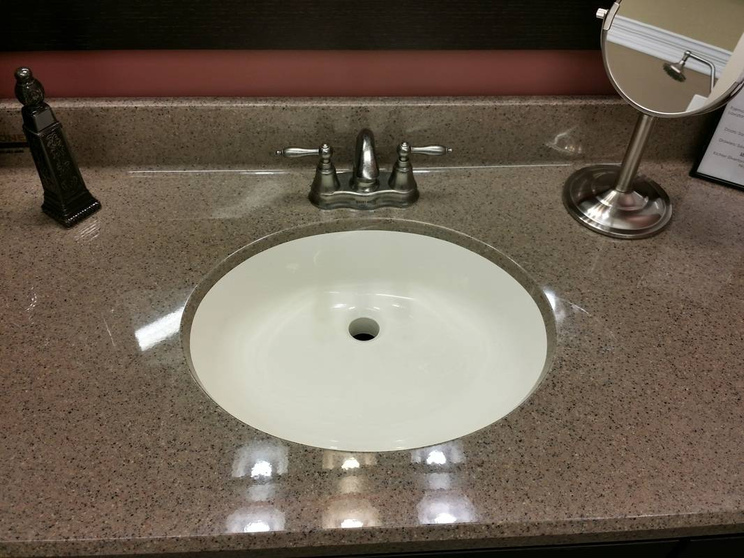 Cultured Marble Vanity Top Seamless Undermount Sink Gloss