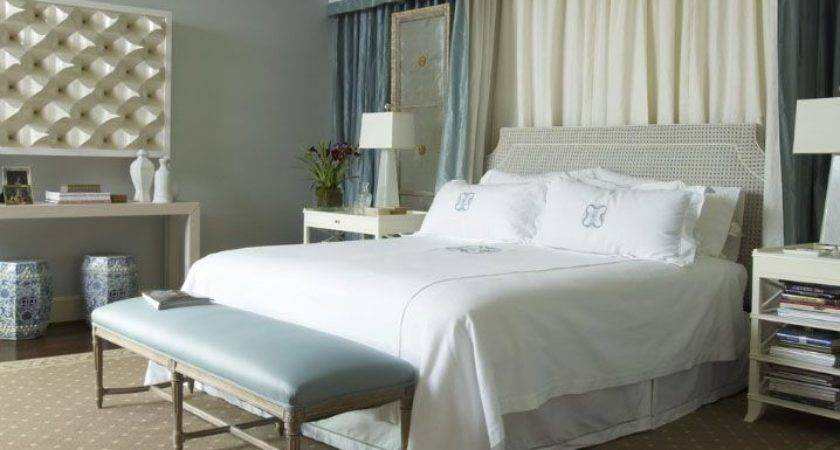 Curtains Behind Bed Houses Pinterest