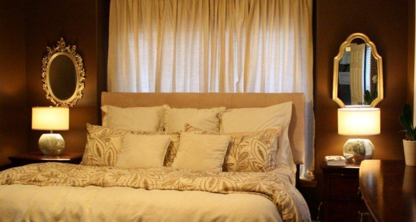 Curtains Behind Bed