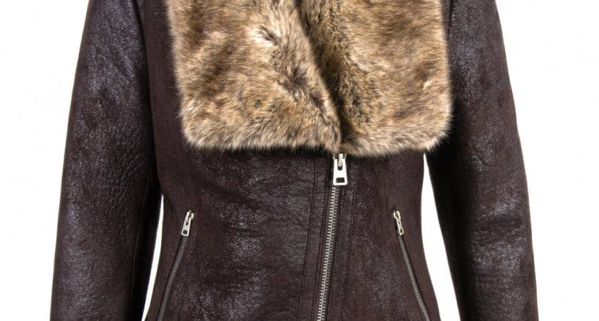 Davos Faux Toscana Sheepskin Jacket Berry Brown
