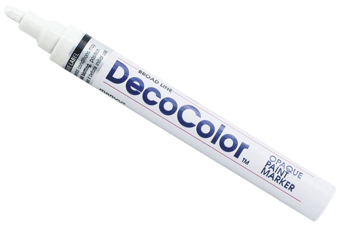 Decocolor White Broad Point Paint Marker Oil Based