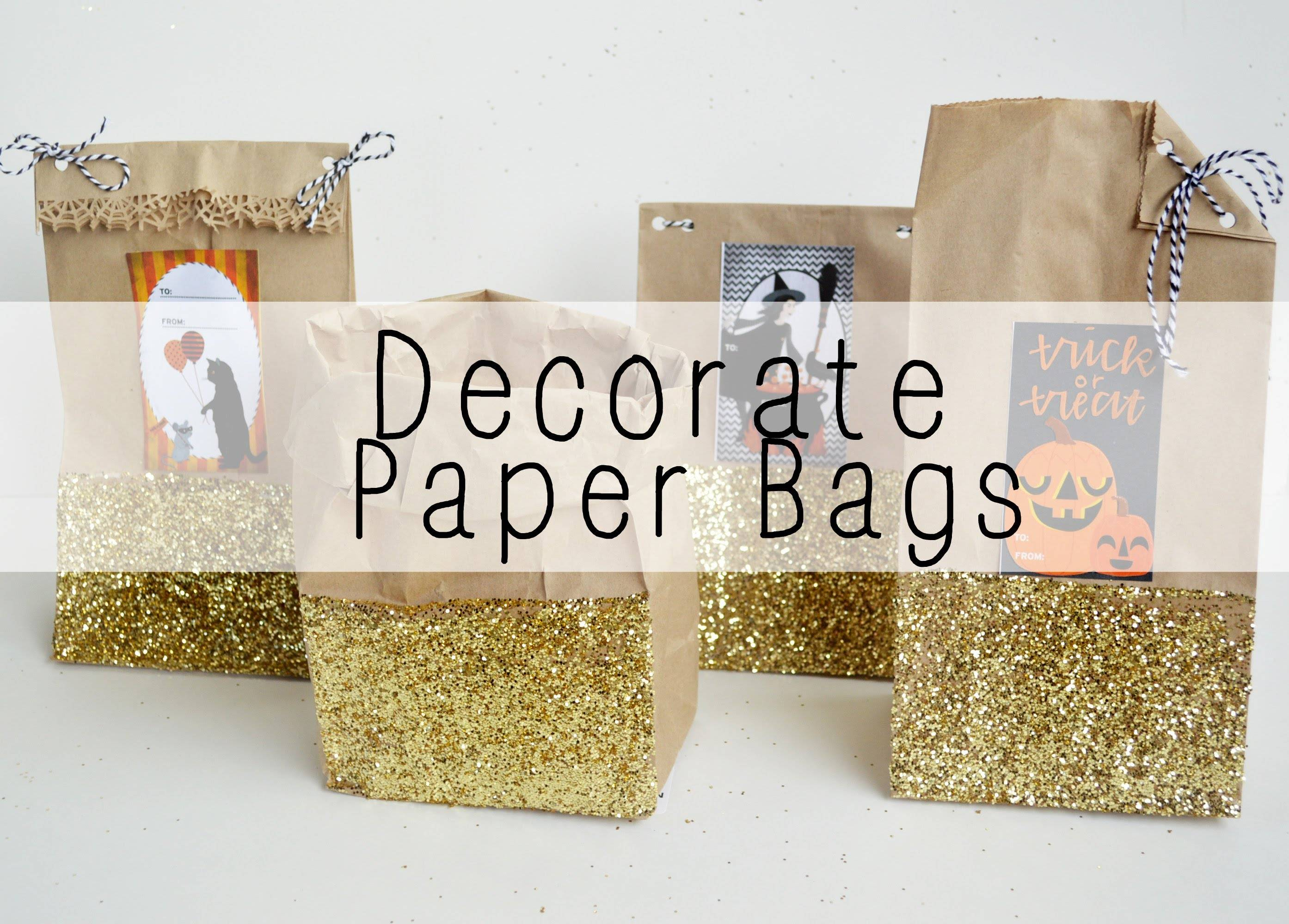 Decorate Paper Bags Youtube