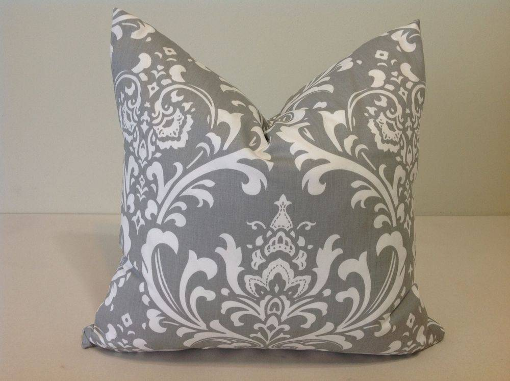 Decorative Throw Pillow Cover Gray White Cushion Covers