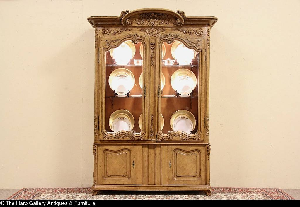 Details Country French Carved China Display Cabinet