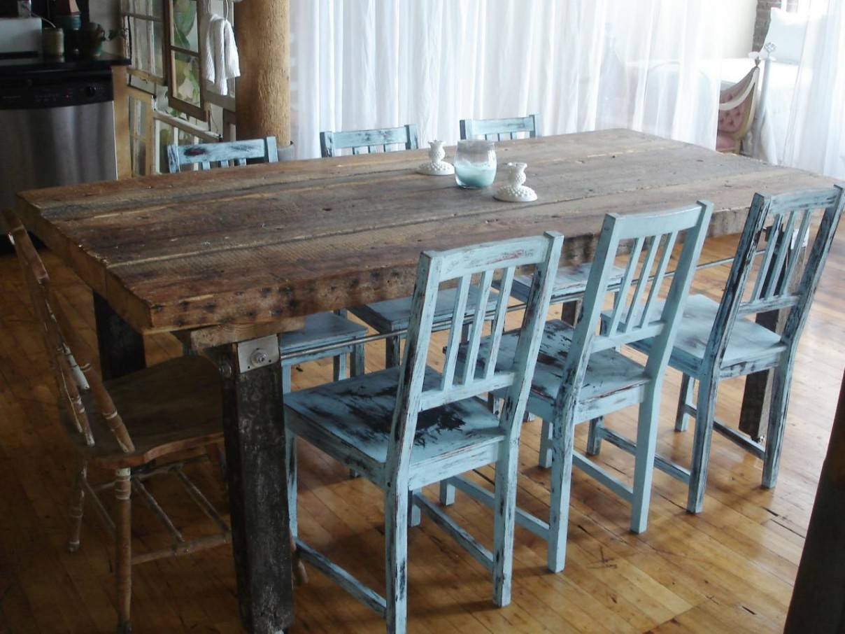 Dining Room Impressive Soft Blue Back Distressed