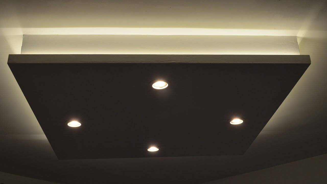 Diy Dropped Ceiling Light Box Youtube