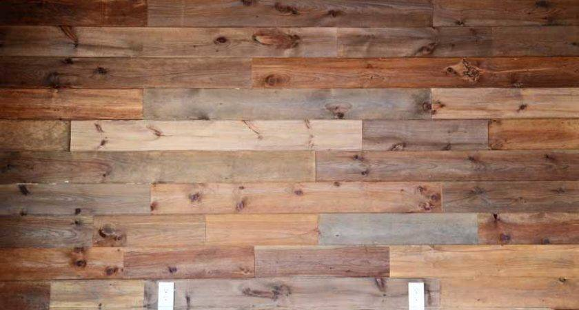 Diy Easy Wood Plank Wall Using Pine Flooring Speak
