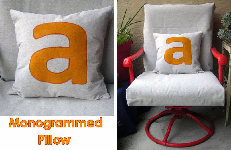 Diy Outdoor Monogrammed Drop Cloth Pillow Project Alm