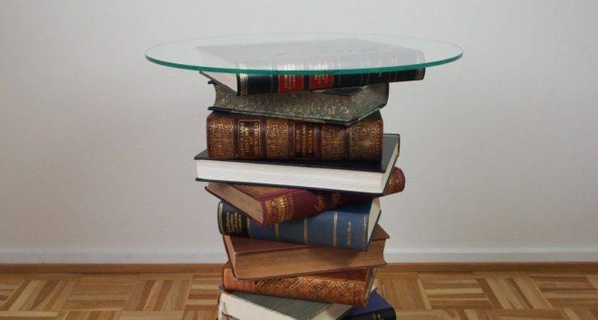 Diy Side Table Made Old Books Tutorial