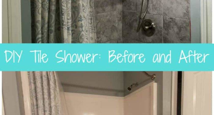 Diy Tile Shower Before After Love Pasta