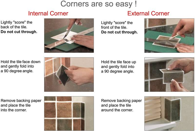 Easy Self Adhesive Stick Wall Tiles Kitchens Bathrooms