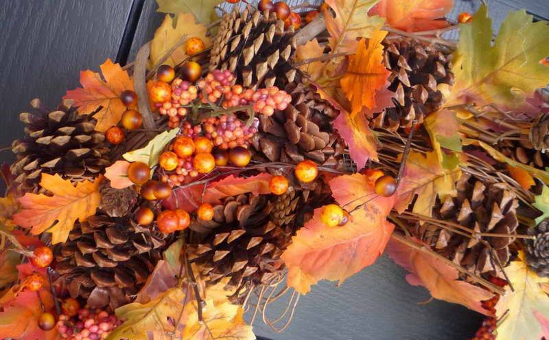 Fall Wreath Ideas Flowers Pinus Lovely