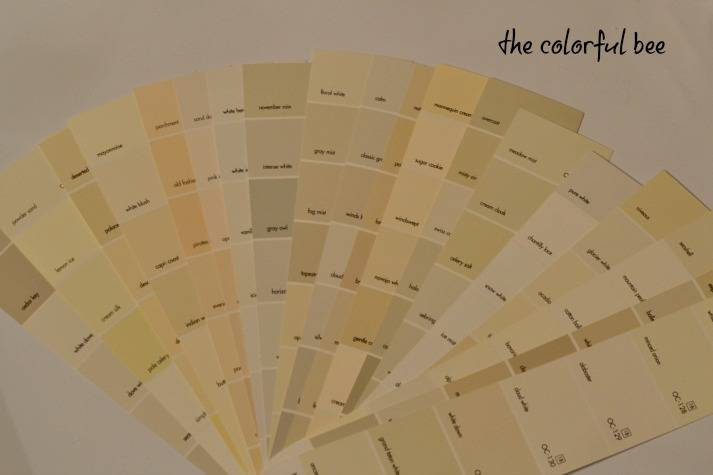 Fan Deck Benjamin Moore Whites Off