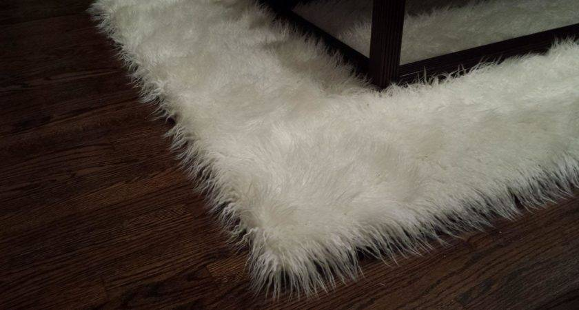 Faux Sheepskin Area Rug White Best Decor Things