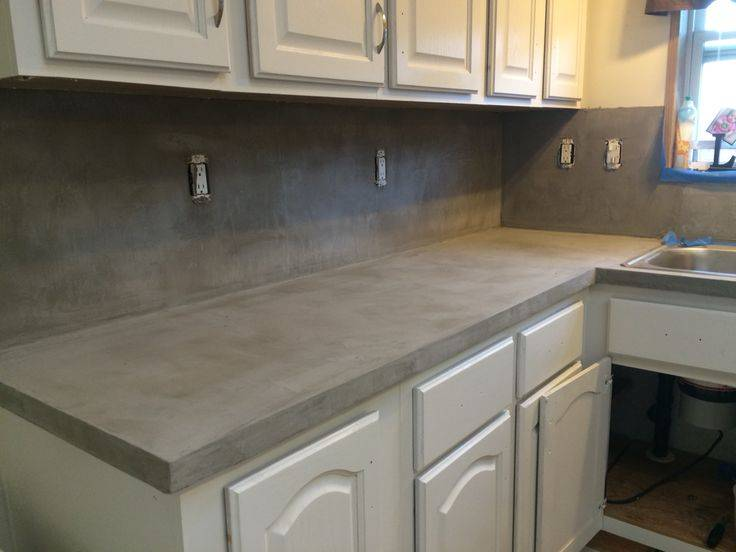 Feather Finish Diy Countertop More House Ideas Henrys