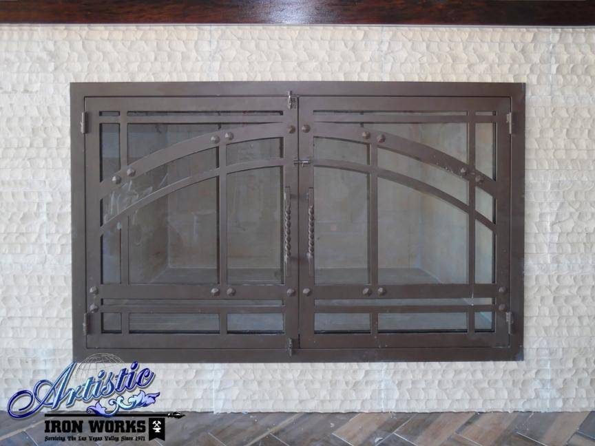 Fireplace Covers Wrought Iron Fire Place Grills Artistic