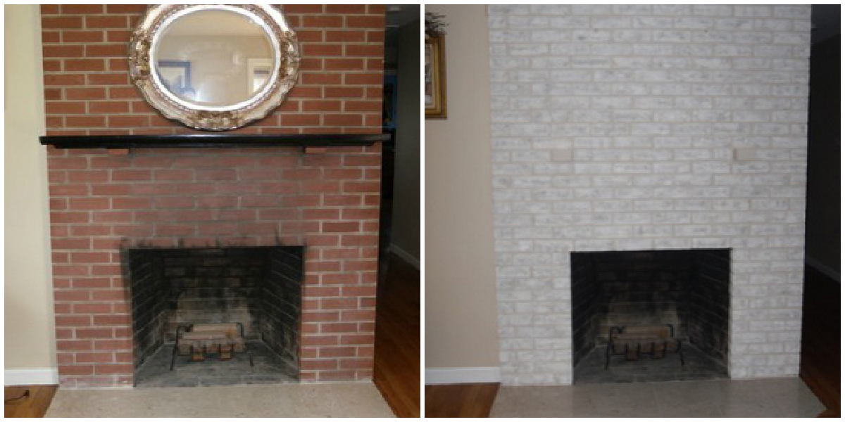 Fireplace Decorating Brick Painted Must