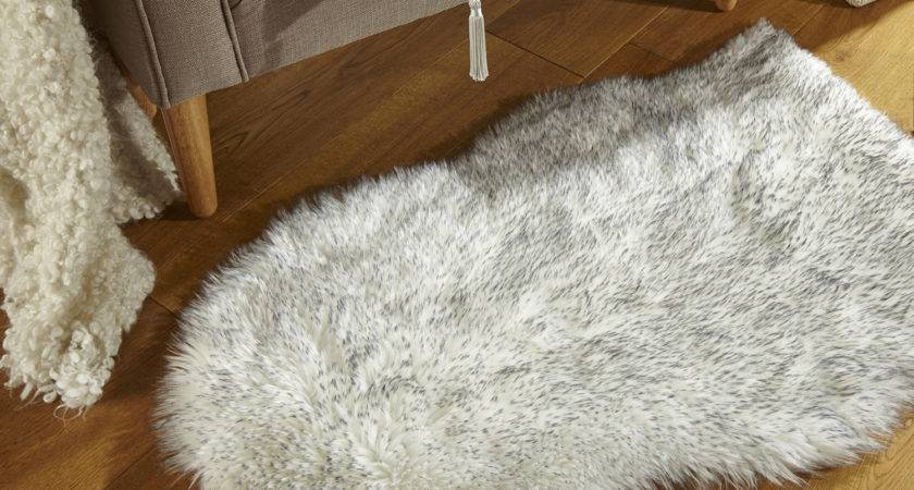 Flair Faux Fur Sheepskin Rug Pink Next Day Delivery