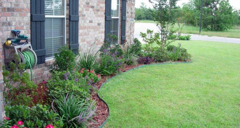 Flower Bed Designs Front House Shrubs Small Trees