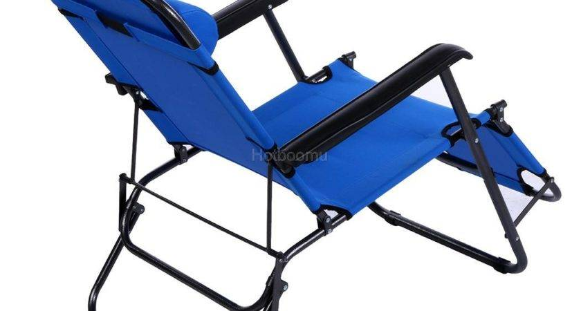 Folding Chaise Lounge Chair Patio Outdoor Pool Beach Lawn