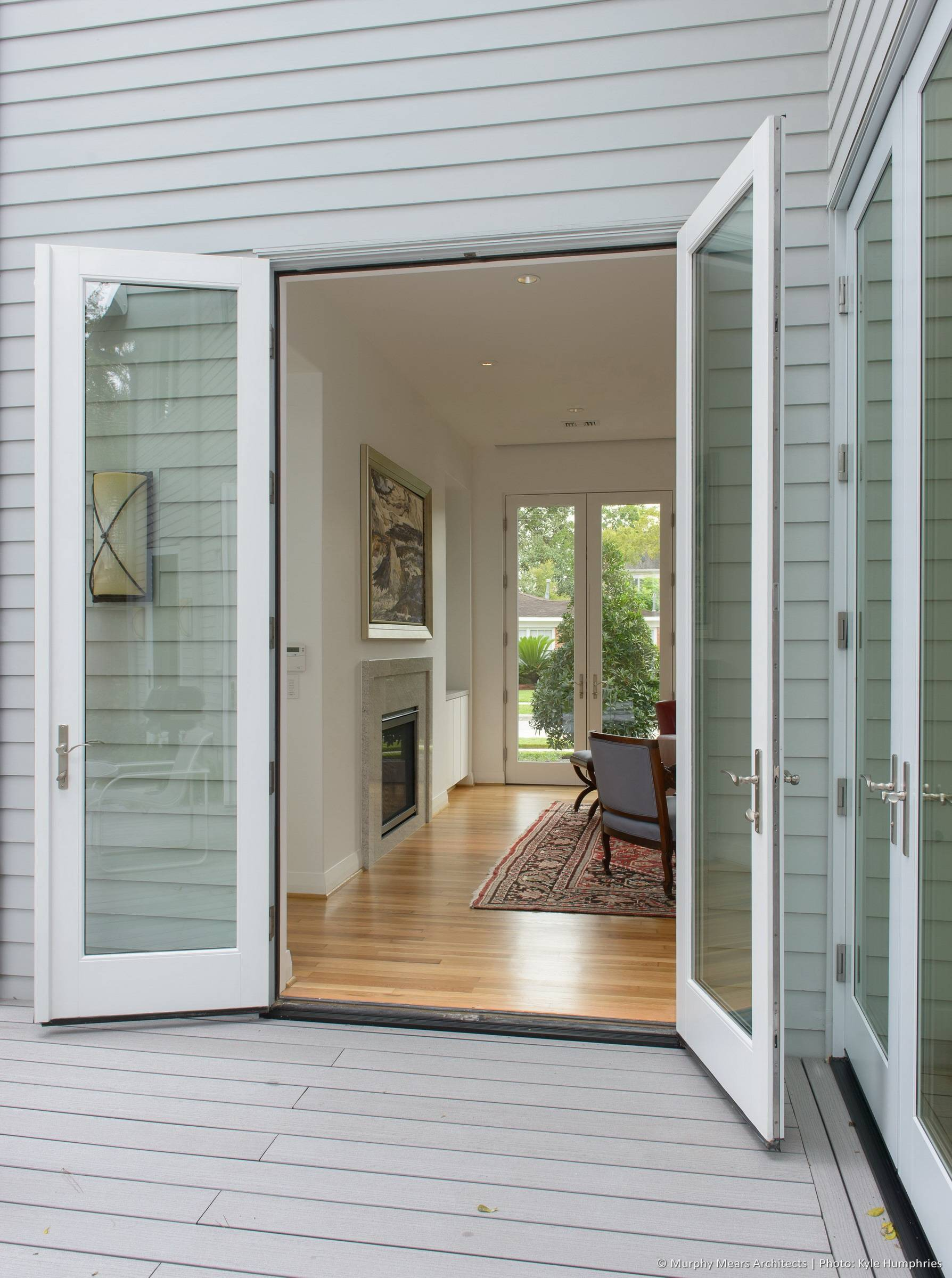 French Doors Open Out Design Decoration