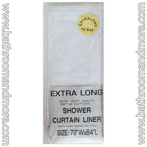 Frosty Clear Vinyl Shower Curtain Liner Extra Long