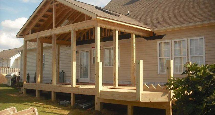 Gable Porch Roof Designs Screen Porches They Have