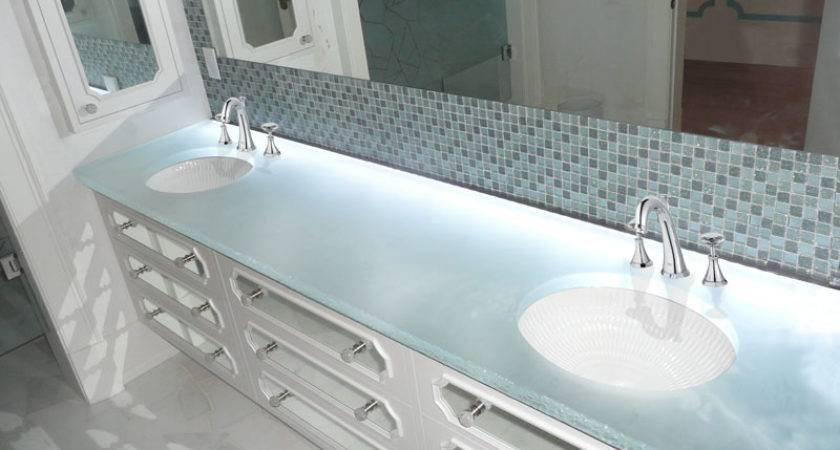 Glass Countertops Bathrooms Cgd