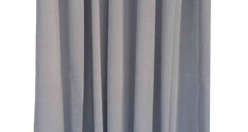 Gray Inch Long Velvet Curtain Panel Ring Grommet Top