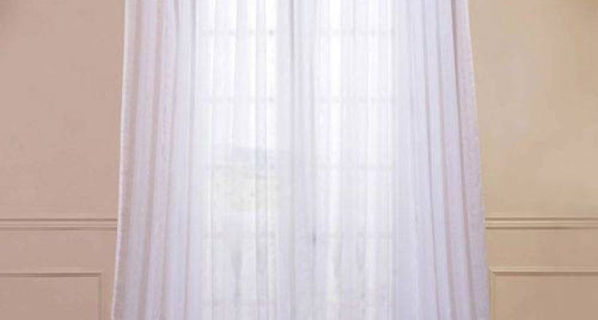 Half Price Drapes Doublewide Solid White Inch