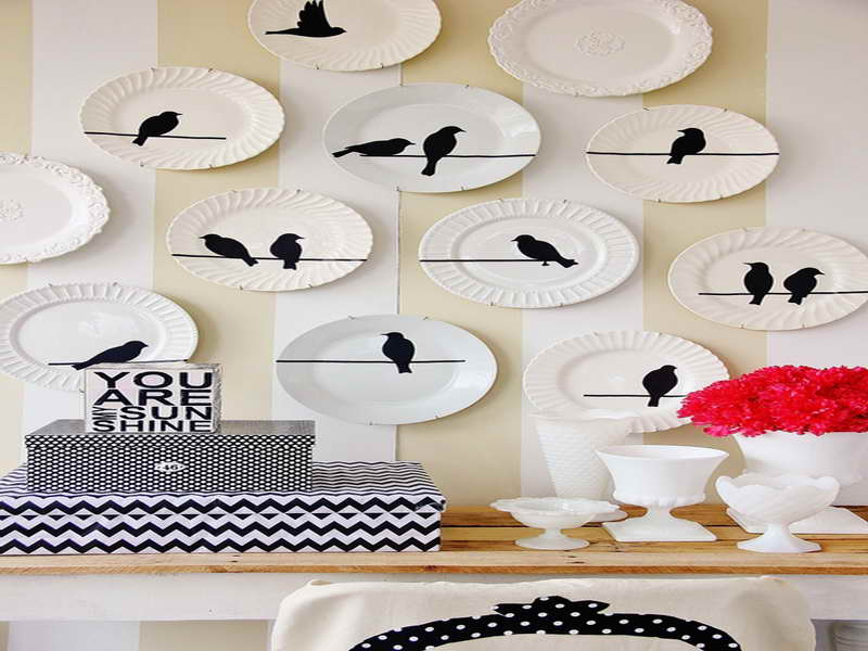 Indoor Hanging Plates Wall Decorate